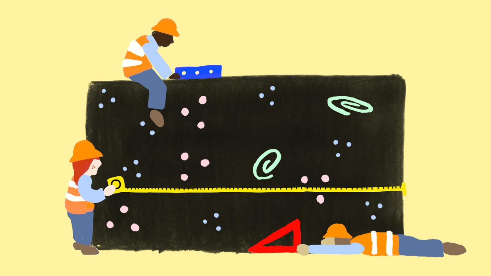Illustration of Flat Universe