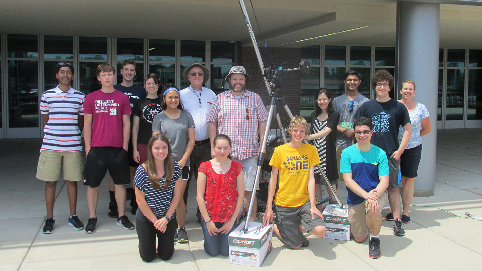 Group photo of students and teachers involved in QuarkNet
