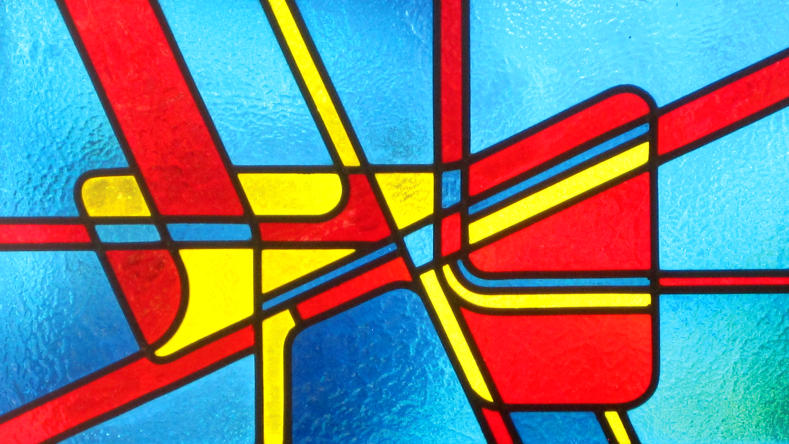 Stained glass image inspired by Fibonacci numbers
