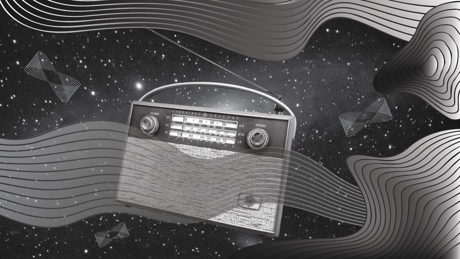 A dark matter radio floats through space