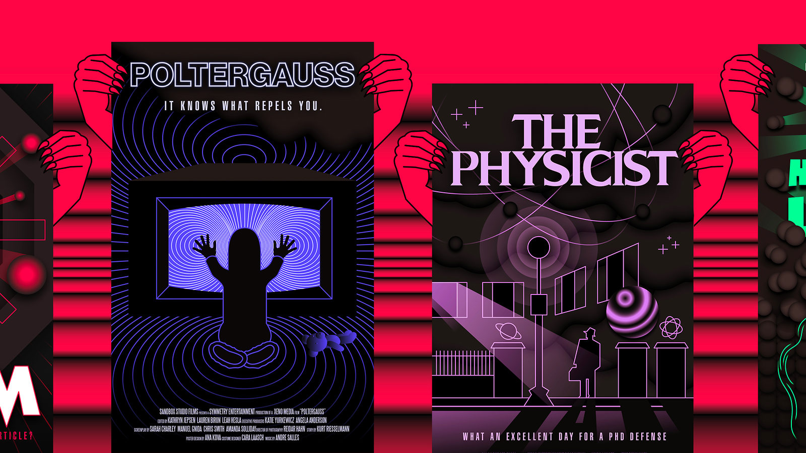Physics based spoof posters