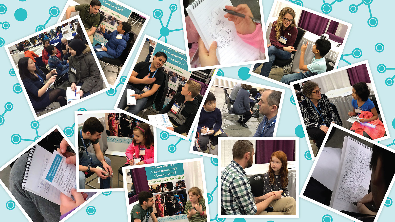 Collage of the Science Storytellers event