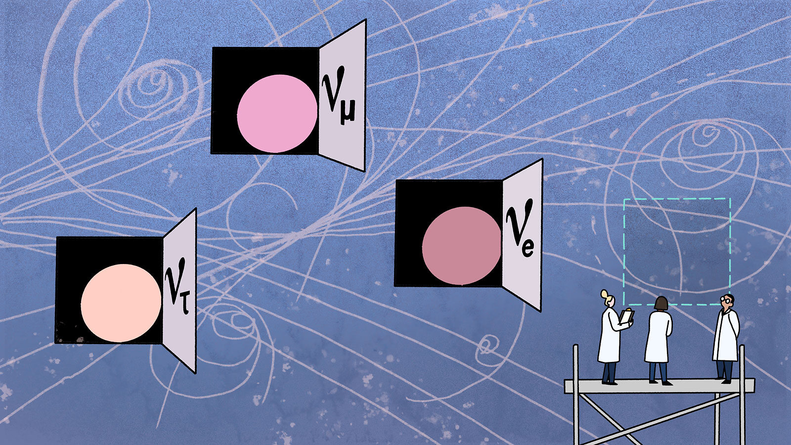 Illustration: Neutrinos revealed in particle physics advent calendar with scientists eyeing another possibility