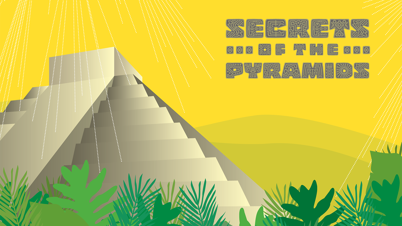 An illustration of a Mayan pyramid