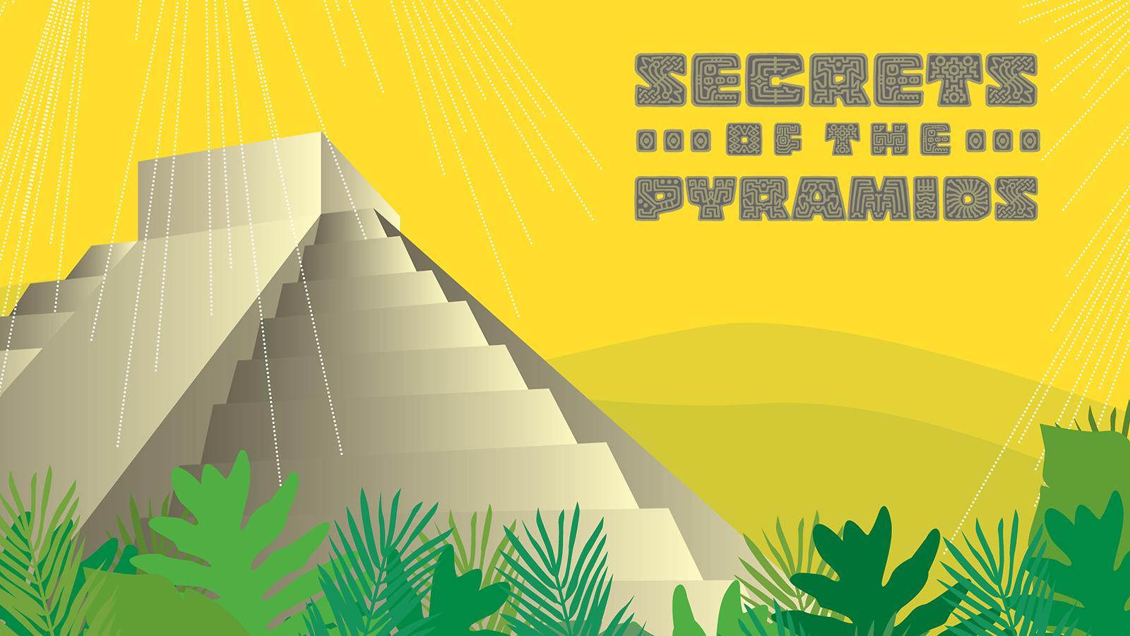 An illustration of a Mayan pyramid