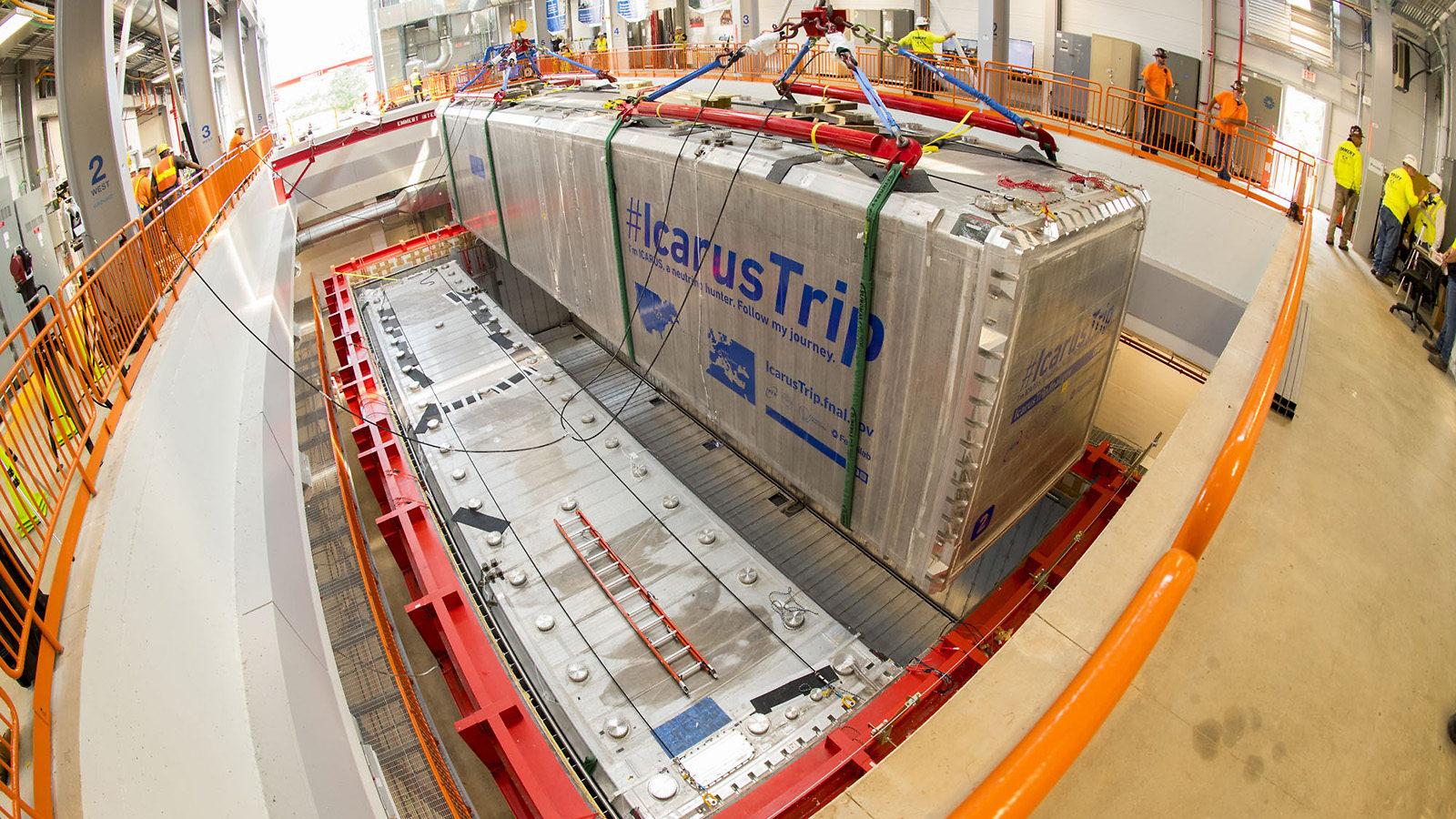 ICARUS neutrino detector installed at Fermilab | symmetry magazine
