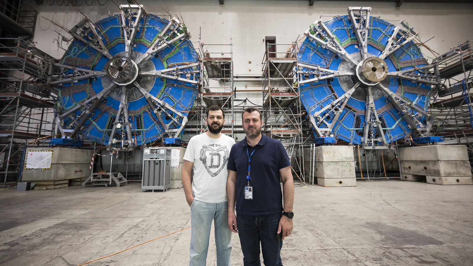 Konstantinos and George at CERN