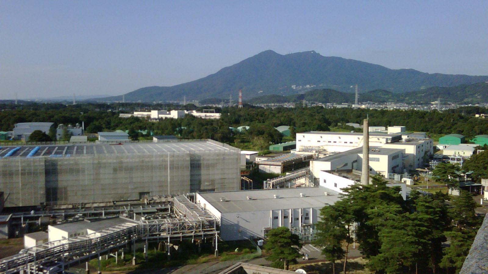 Photo of KEK and Mt. Tsukuba