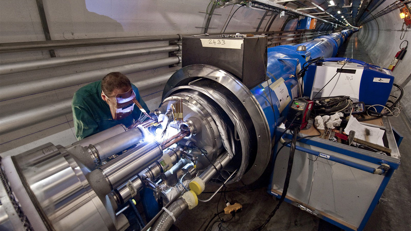 Photo of LHC magnet