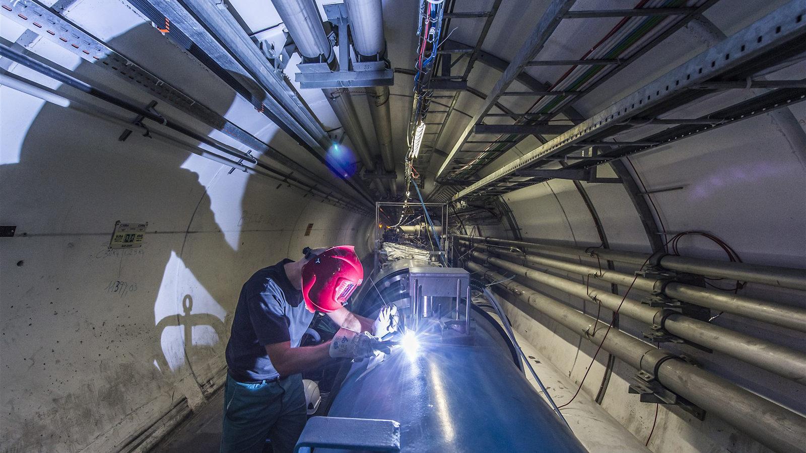 Photo of LHC welding