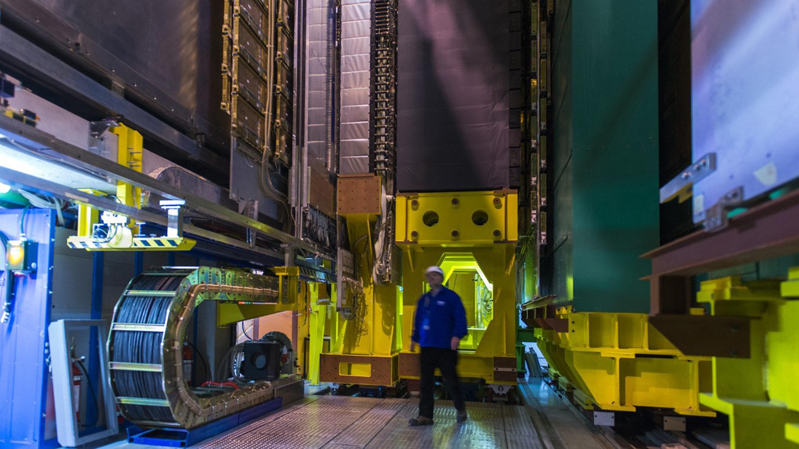 Photo: LHCb detector beneath