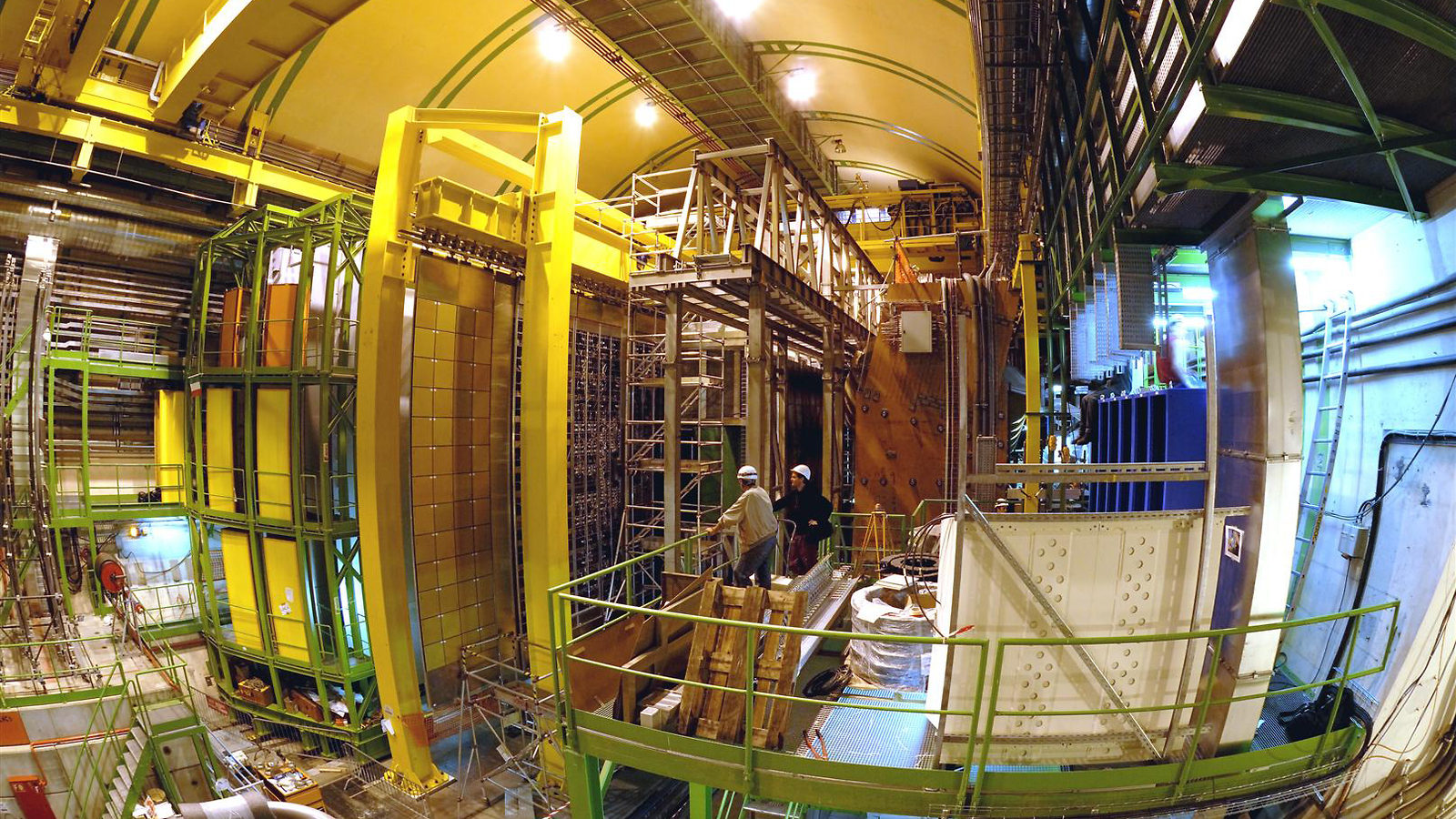Photo of LHCb detector fisheye