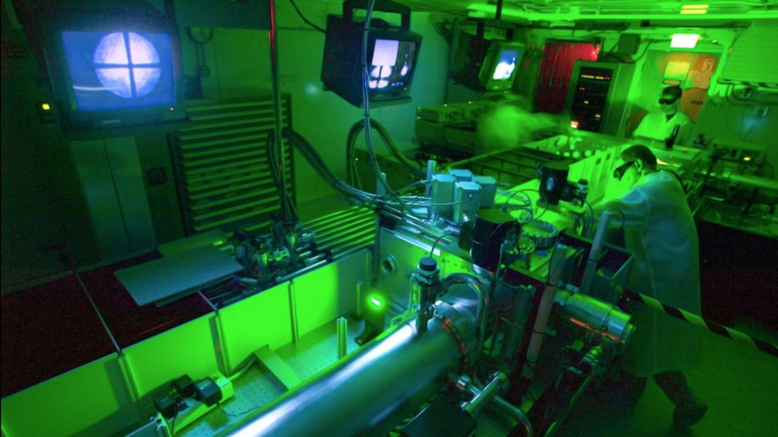 Image: Leemans' laser lab