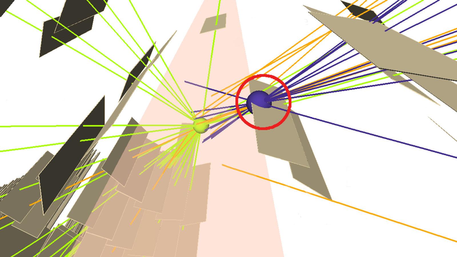 ALAS particle tracks