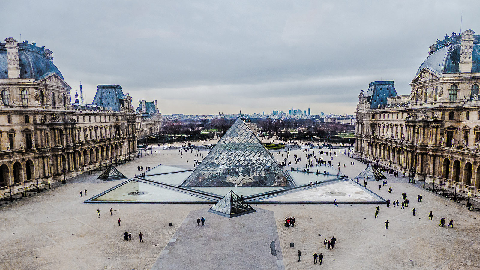 Photo of Louvre pyramid
