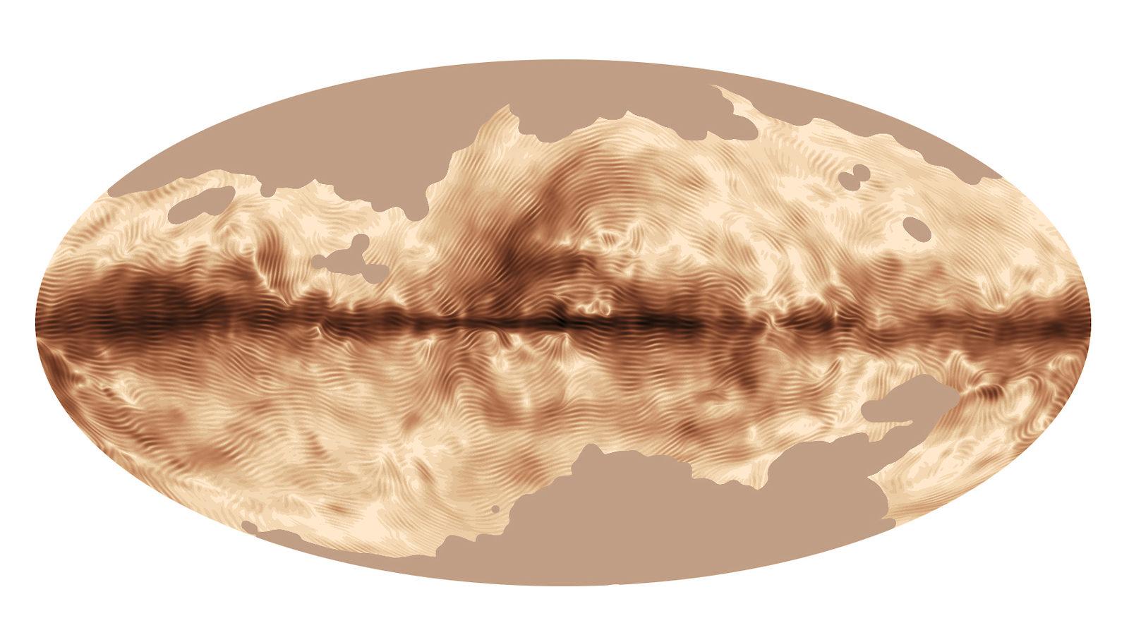 Illustration of Milky Way fingerprint