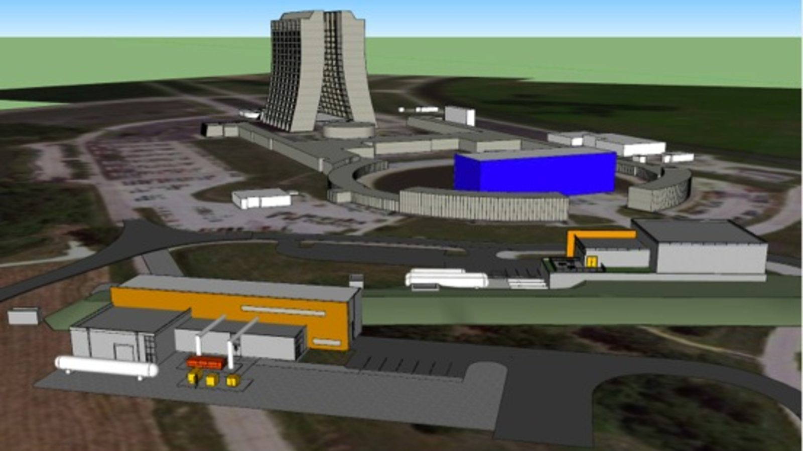 Illustration of Fermilab Muon Campus