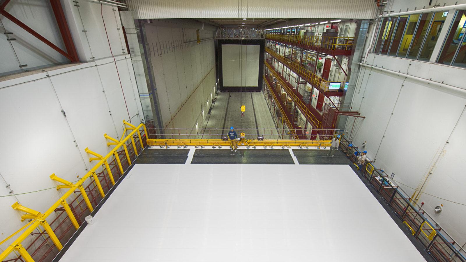 Photo of NOvA far detector hall