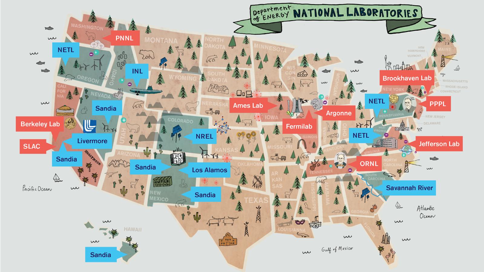 Around the US in 17 labs symmetry magazine