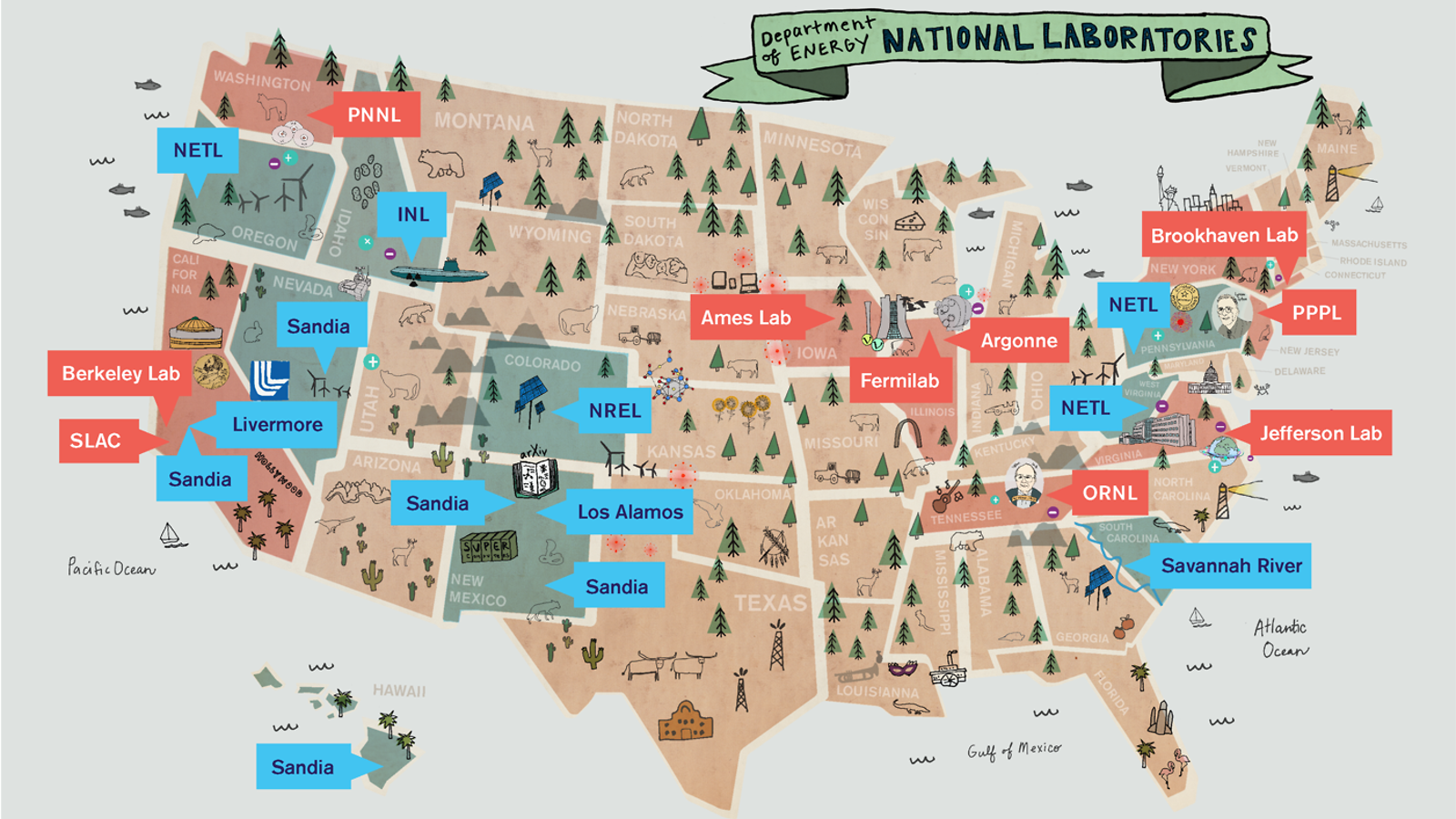 Interactive Map Of The Usa.Around The Us In 17 Labs Symmetry Magazine