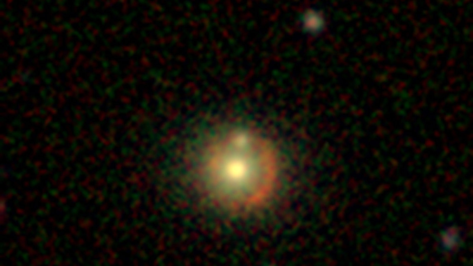 This lensed galaxy was discovered by citizen scientists earlier this week through the Space Warps website
