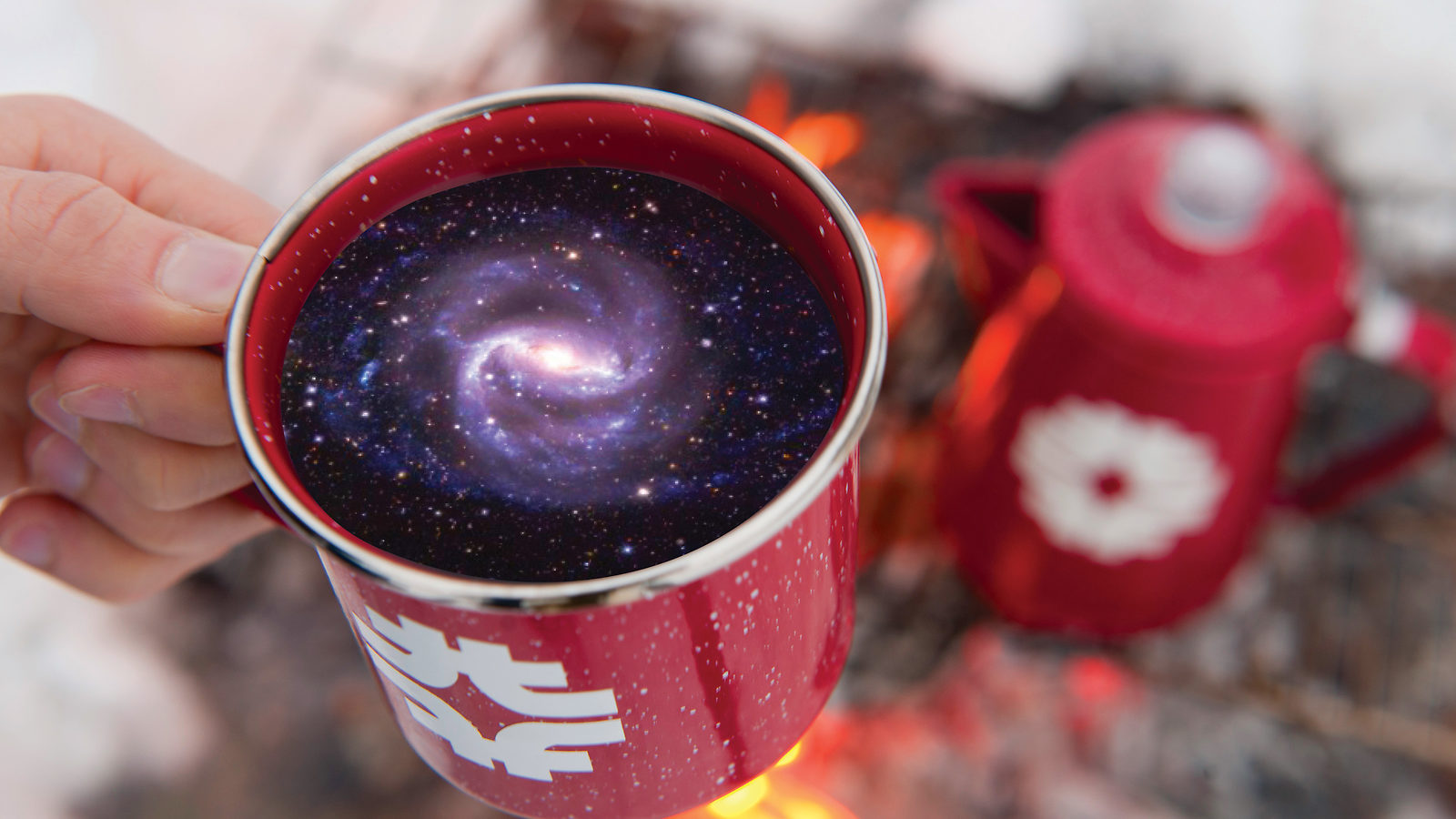 Galaxy coffee cup