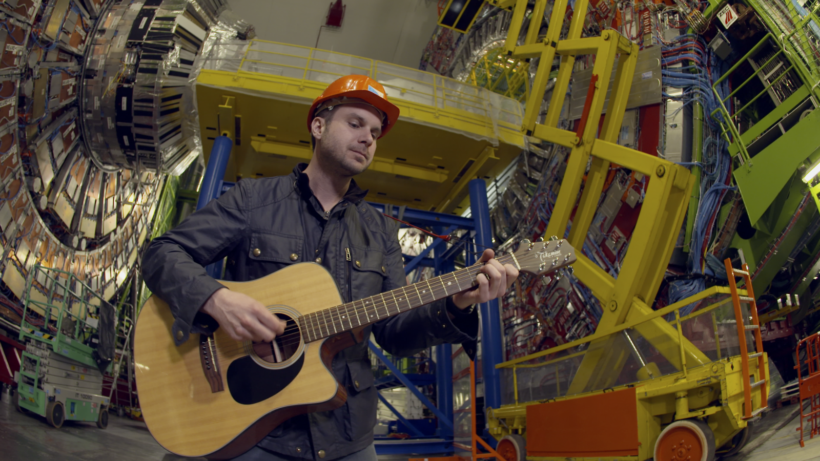 Howie Day plays a song at CERN