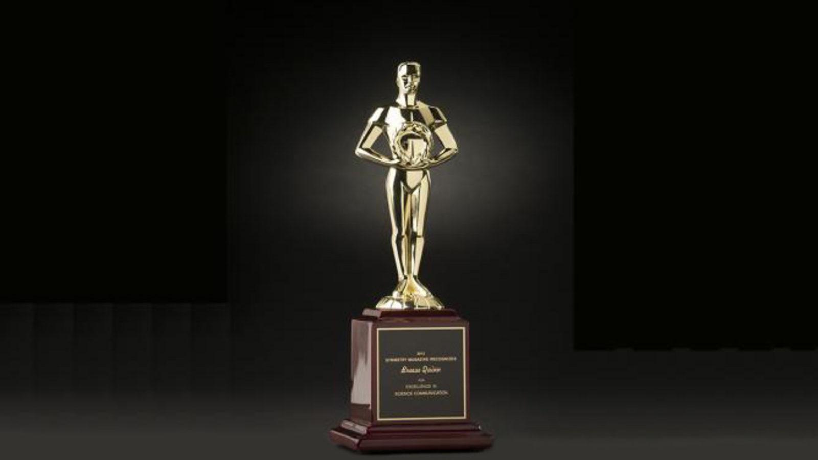 Photo of Symmy 2013 award