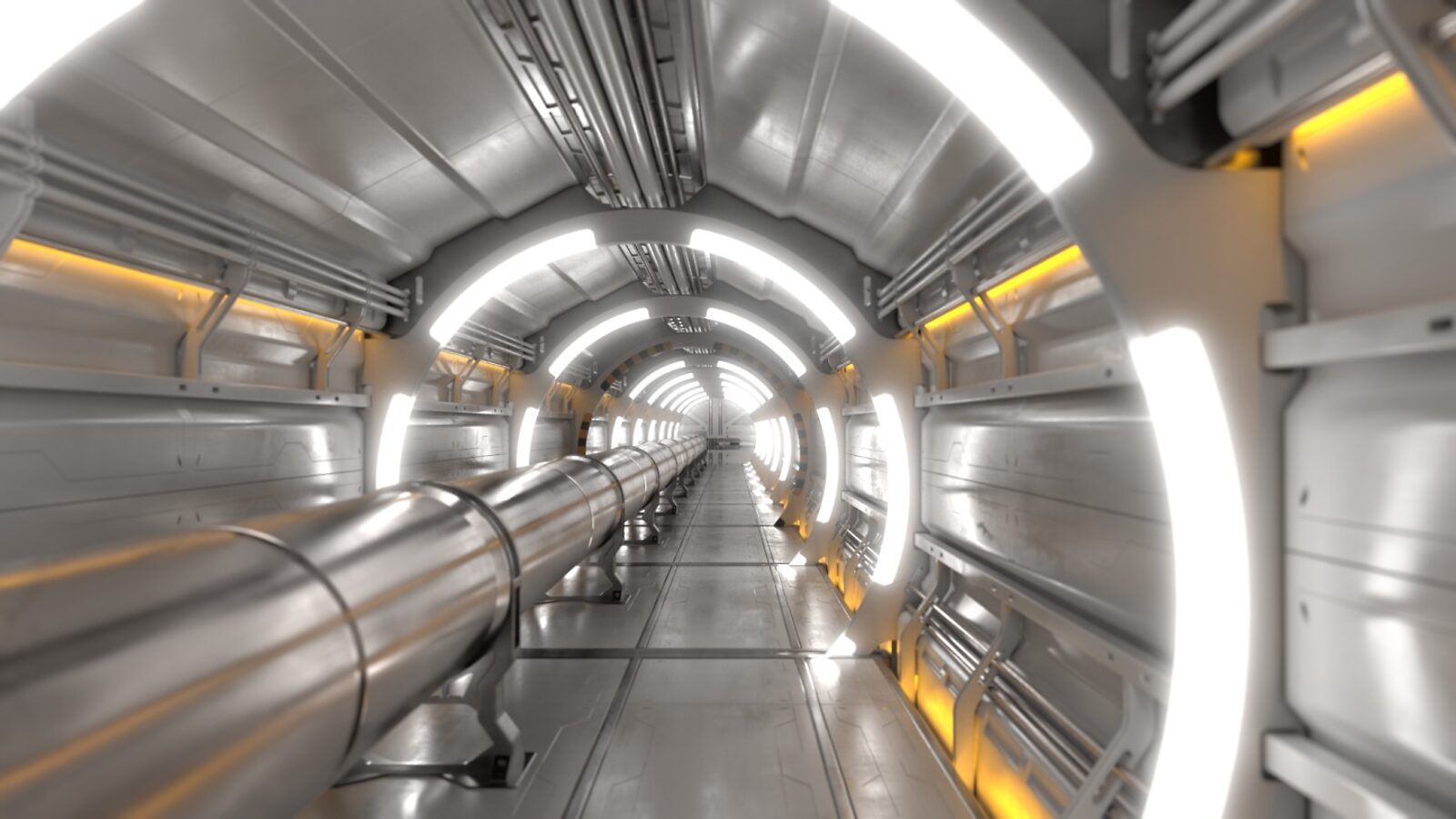 Interior of a collider tunnel