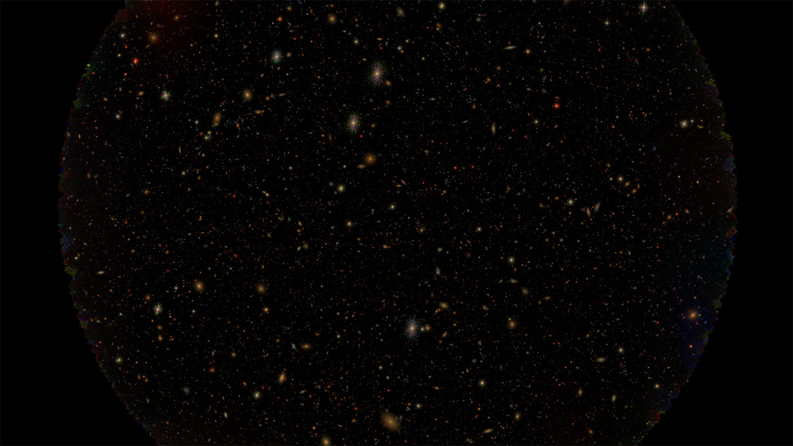 A simulation of stars against a black background