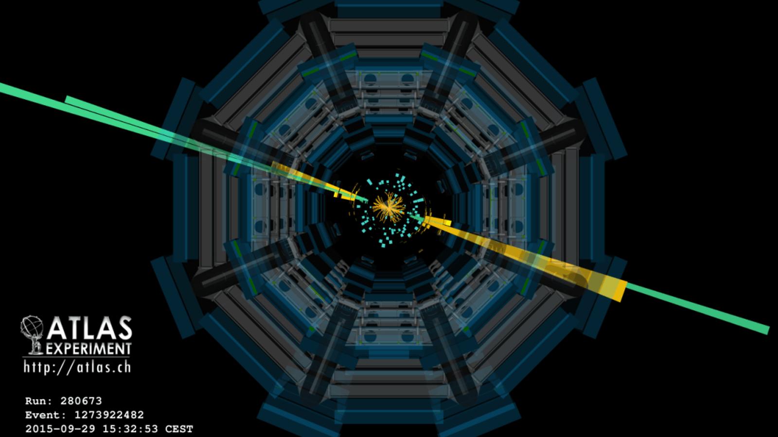 Illustration of ATLAS diphoton event