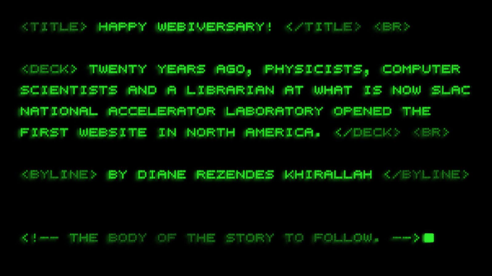 Happy webiversary