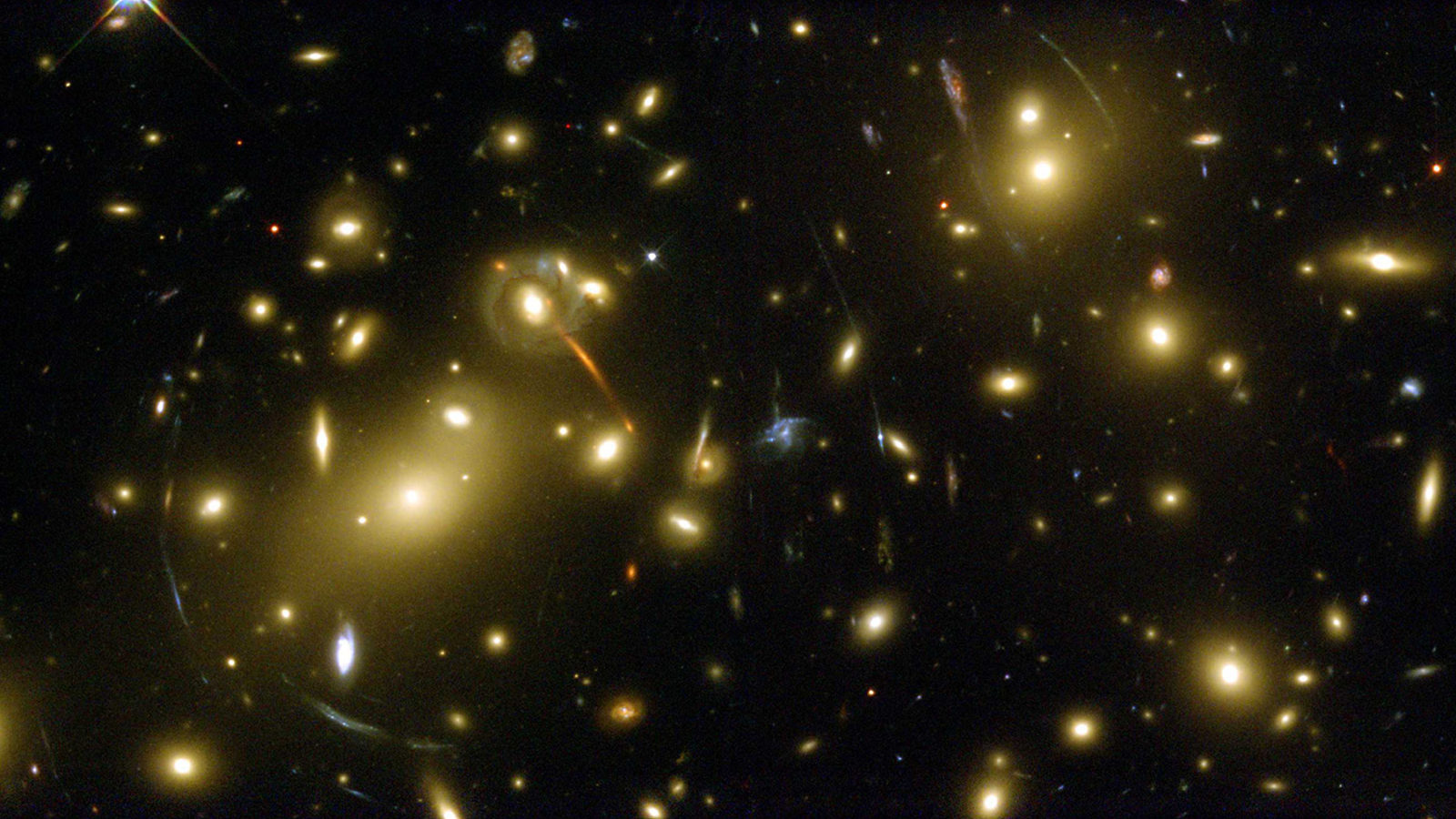 Photo of gravitational lensing