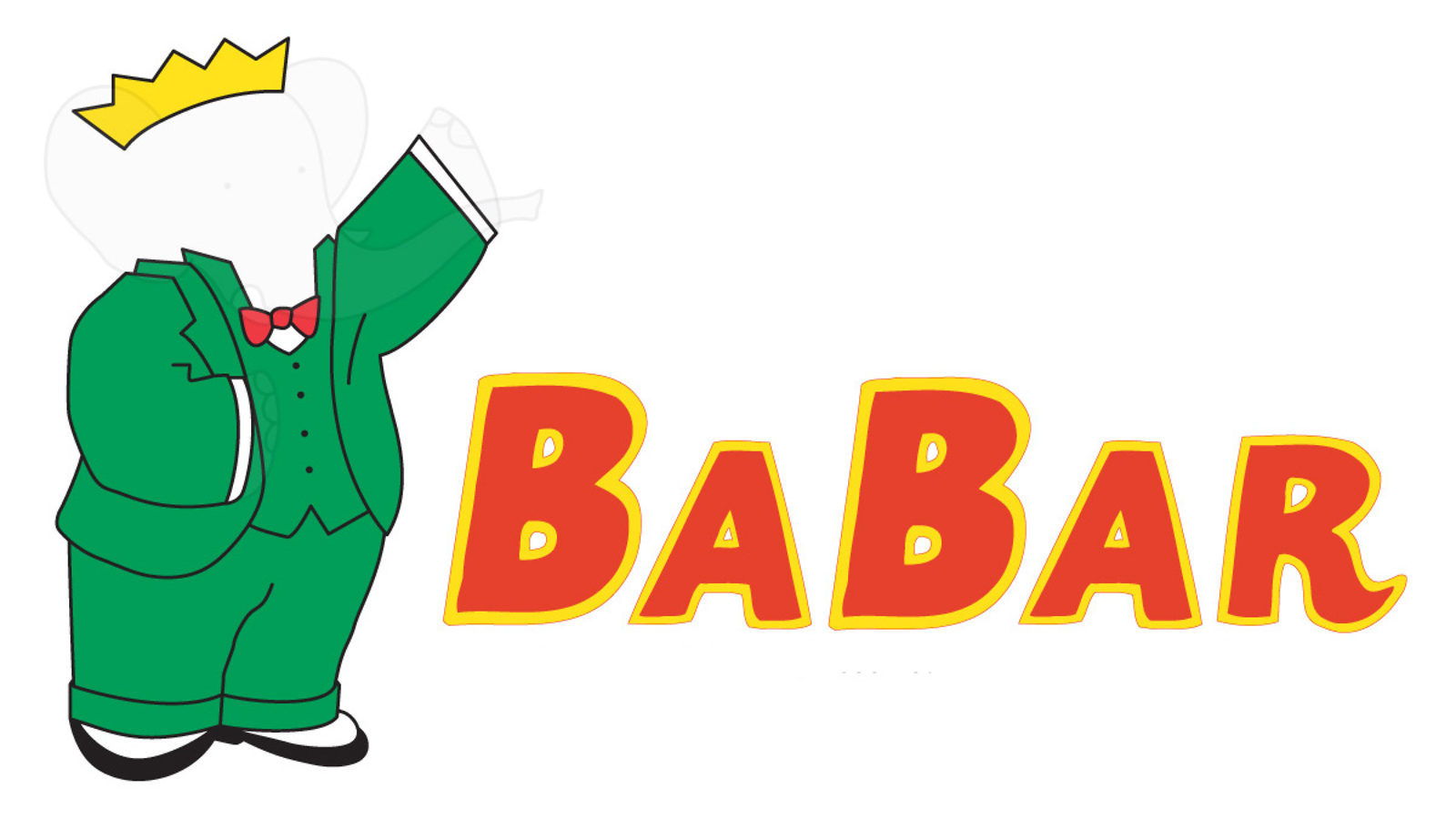 "Illustration of BaBar invisible: green suite with invisible person inside ""BaBar"""