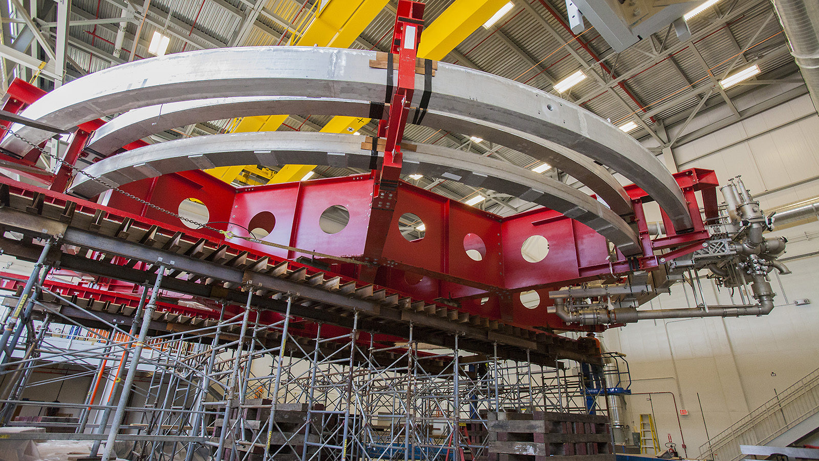 Image of Muon g-2 magnet on stand