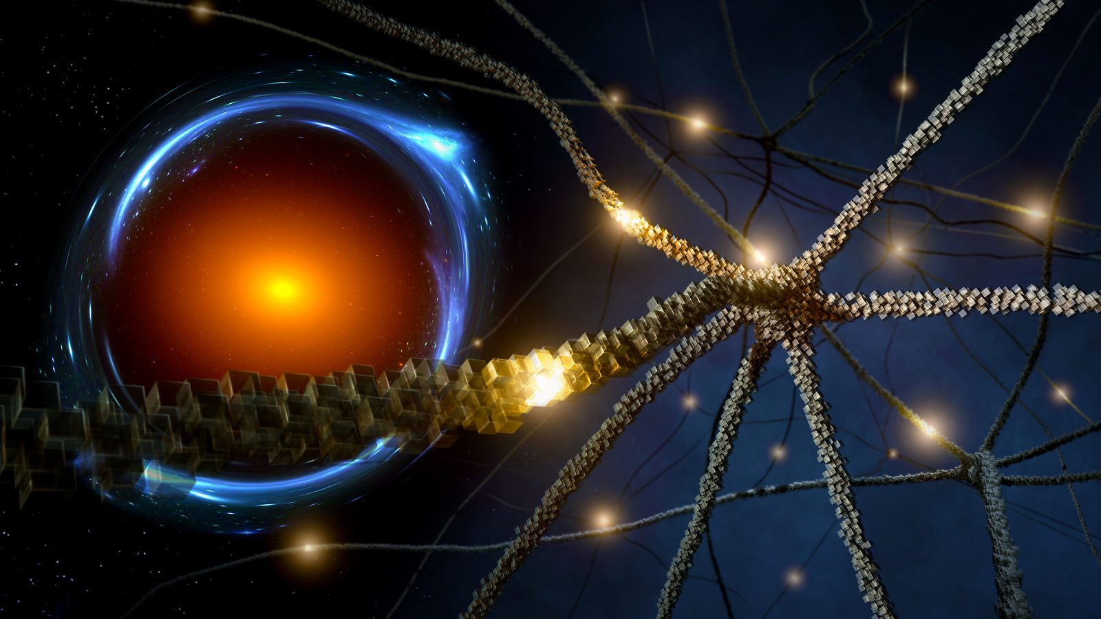 Neurons and Einstein ring