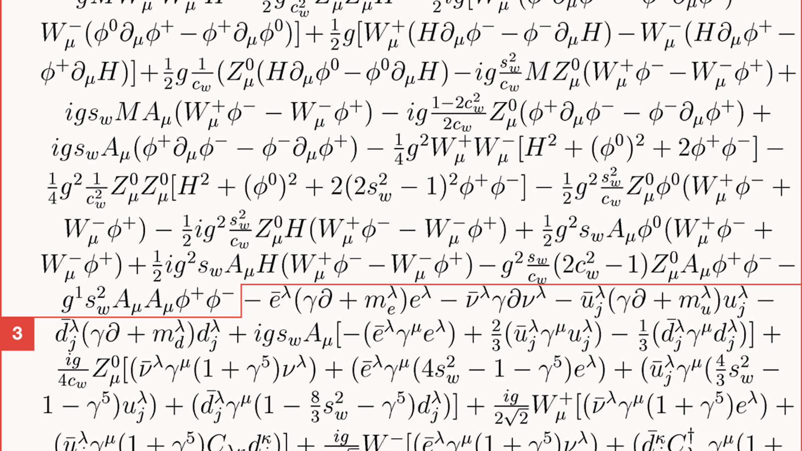 standard model lagrangian short pdf