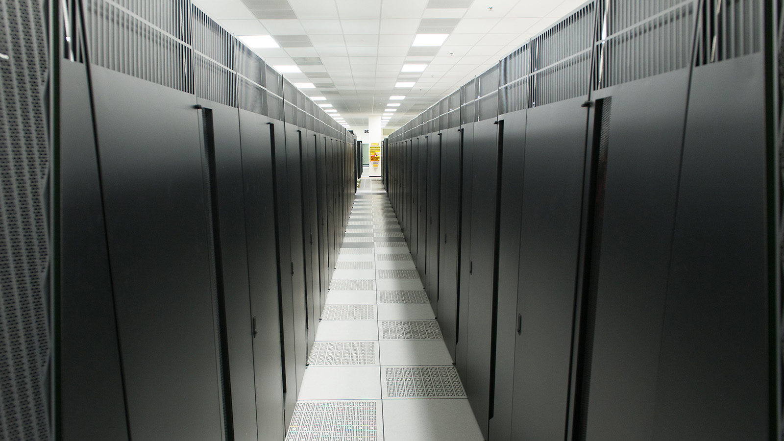 Rows of supercomputers at Argonne