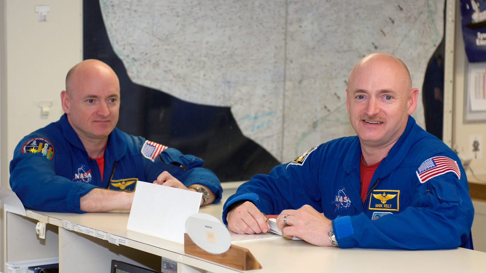 Photo: Twins Scott and Mark Kelly