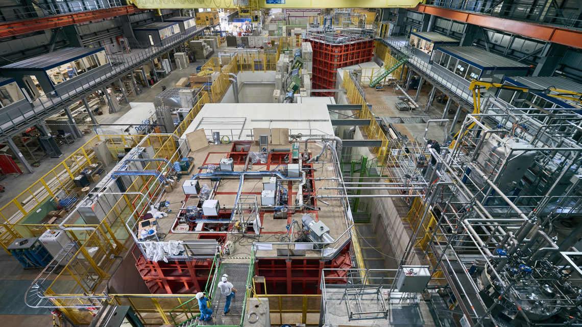 Aerial view of CERN Neutrino Platform