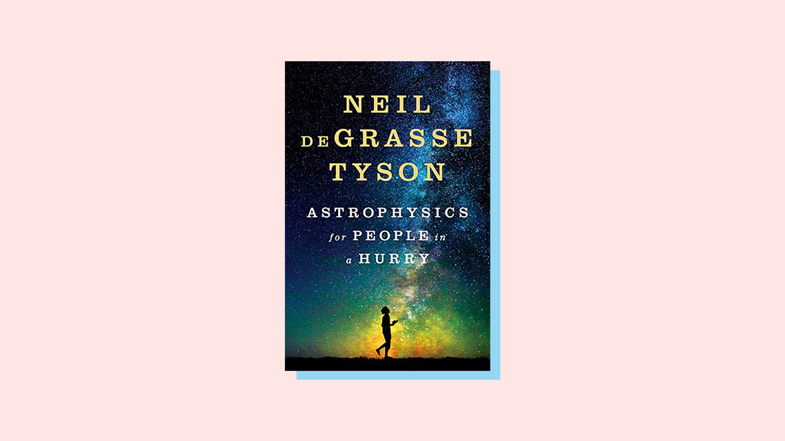 Illustration of book cover for Astrophysics for People in a Hurry, by Neil DeGrasse Tyson