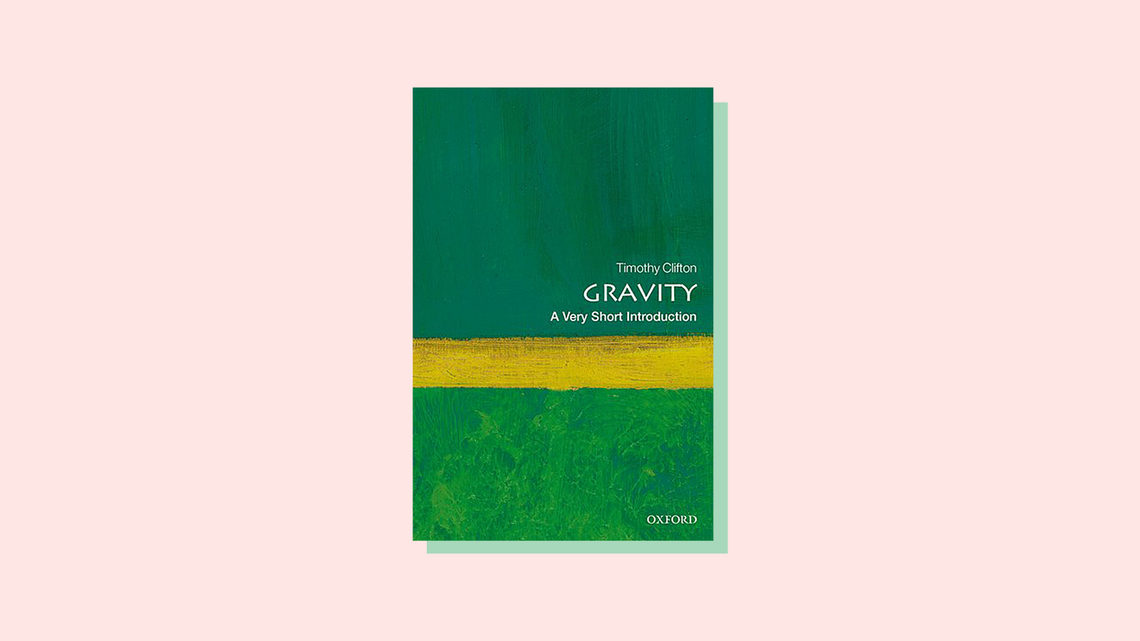 Illustration of book cover for Gravity: A Very Short Introduction, by Timothy Clifton