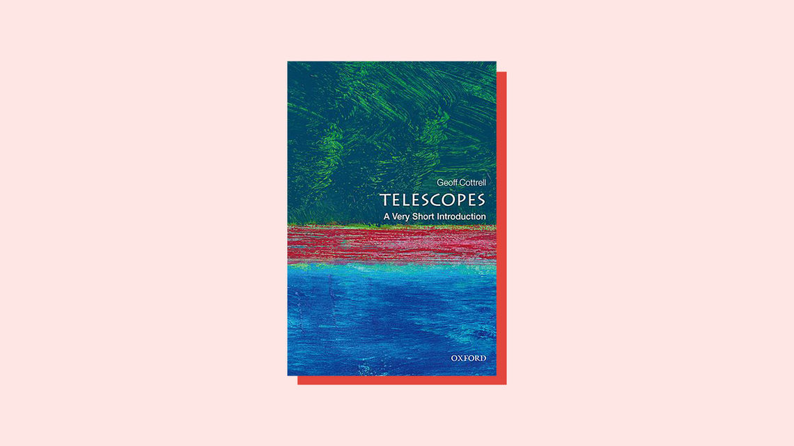 Illustration of book cover for Telescopes: A Very Short Introduction, by Geoffrey Cottrell