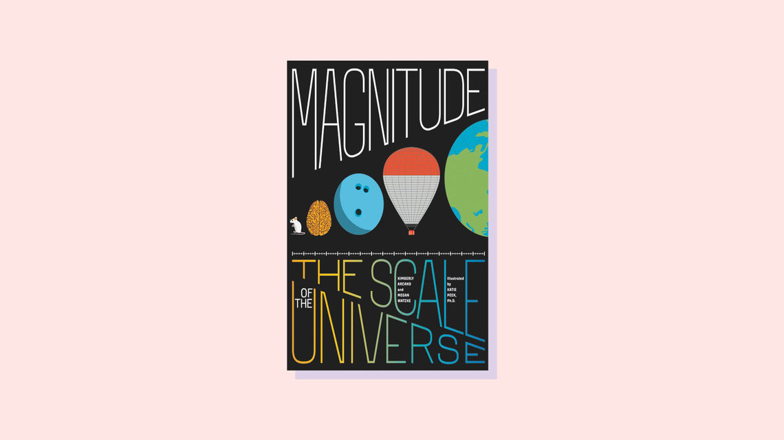 Illustration of book cover for Magnitude: The Scale of the Universe, by Megan Watzke and Kimberly Arcand