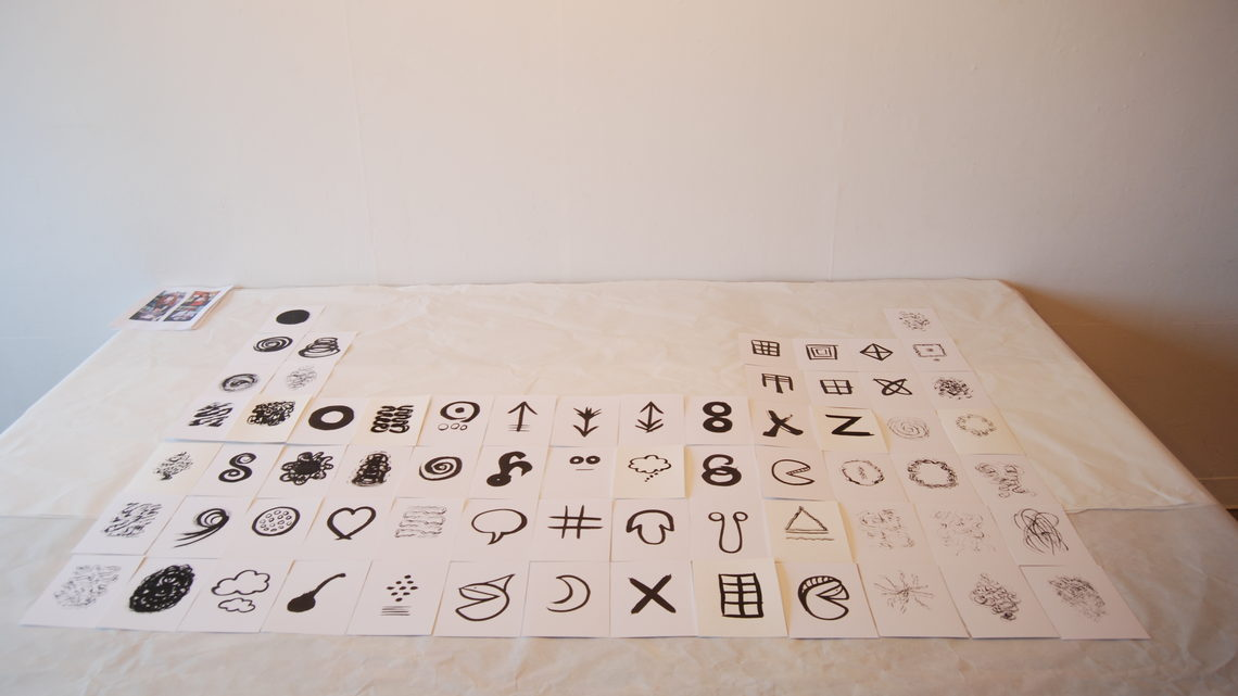 "Photo of ""My Periodic Table of Gloriously Cosmic Events"" by Glenda Bartosh of Emily Carr University of Art & Design"