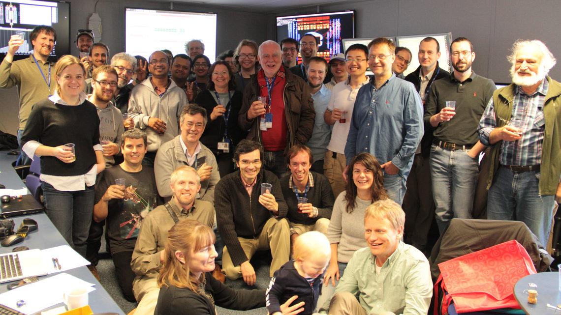 Photo of LHC holiday toast