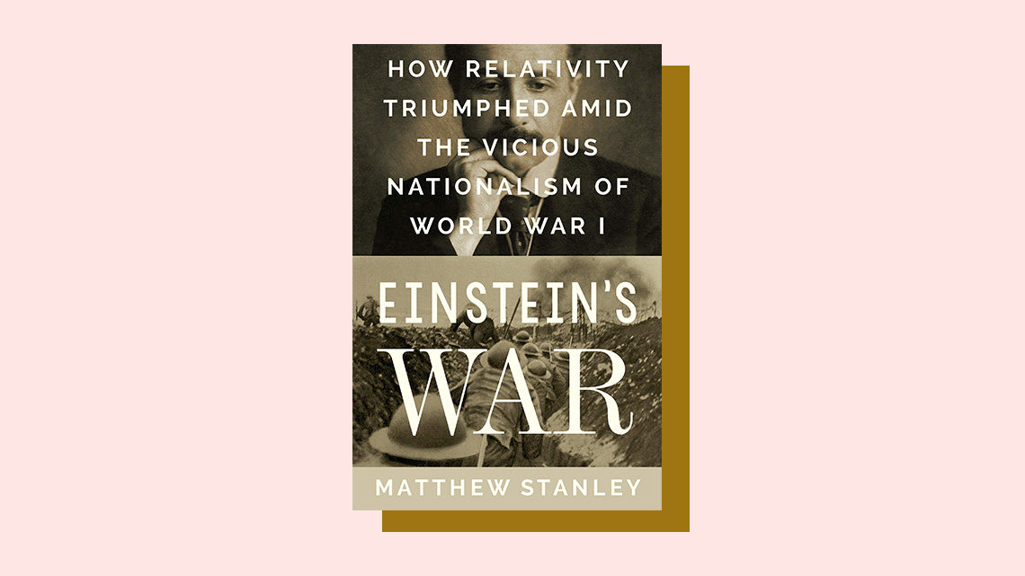 """Einstein's War"" book cover by Matthew Stanley"