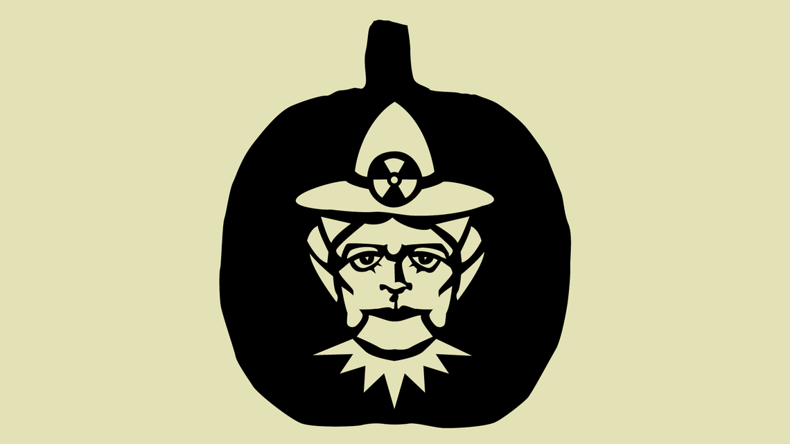 Illustration of Scary Curie Pumpkin