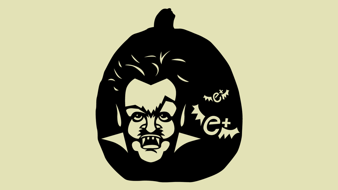 Illustration of Paul Dirac-ula Pumpkin