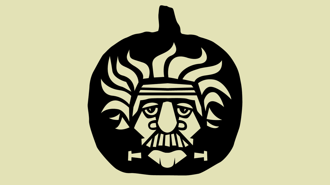 Illustration of Albert Frank-Einstein Pumpkin